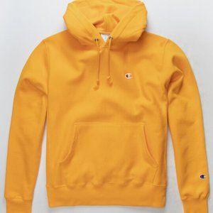 Brand new CHAMPION Reverse Weave Gold Mens Hoodie